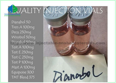 China Bodybuilding Anabolic Oral Steroids Methandienone 50mg / Ml Anavar Dbol Dianabol 50 With Yellow Color bodybuilding cycle supplier