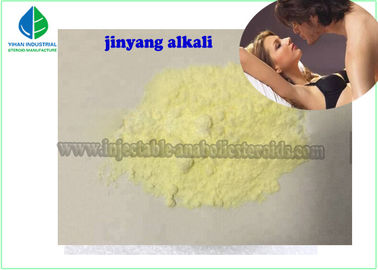 Yellow Crystalline Powder Male Enhancement Supplements Jinyang Alkali CAS 53-16-7